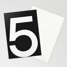 No. 5 — Black Stationery Cards