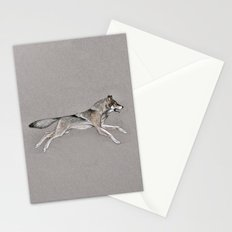 Wolf Running Stationery Cards