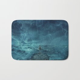 Lost in the ocean Bath Mat