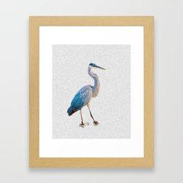 Blue Heron Silhouette Framed Art Print