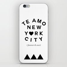 (EXTRA BOLD) TE AMO NEW YORK CITY (forever & ever) iPhone & iPod Skin