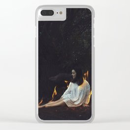 PLAYING WITH FIRE Clear iPhone Case