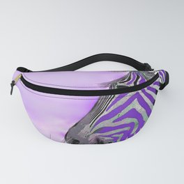 Zebra Purple and White Fanny Pack