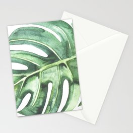 Watercolor Monstera leaf Stationery Cards