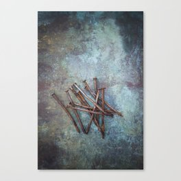 a bunch of nails Canvas Print