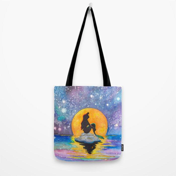 The Little Mermaid Galaxy Tote Bag
