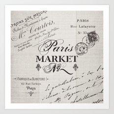 paris market Art Print
