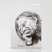 radiohead Stationery Cards featuring Radiohead Portrait by Raquel García Maciá