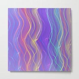 Purple Electric Rainbow Metal Print