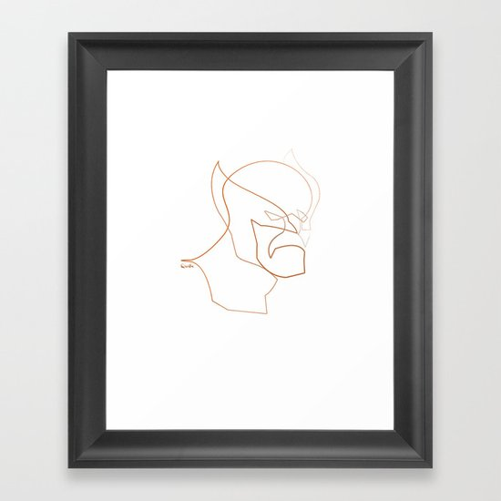 One line Wolverine Framed Art Print