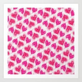 roses&hearts Art Print