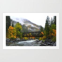Bridge in Autumn Art Print
