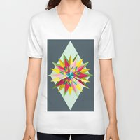 pantone V-neck T-shirts featuring Pantone Mandala by Brandon Harmon Design