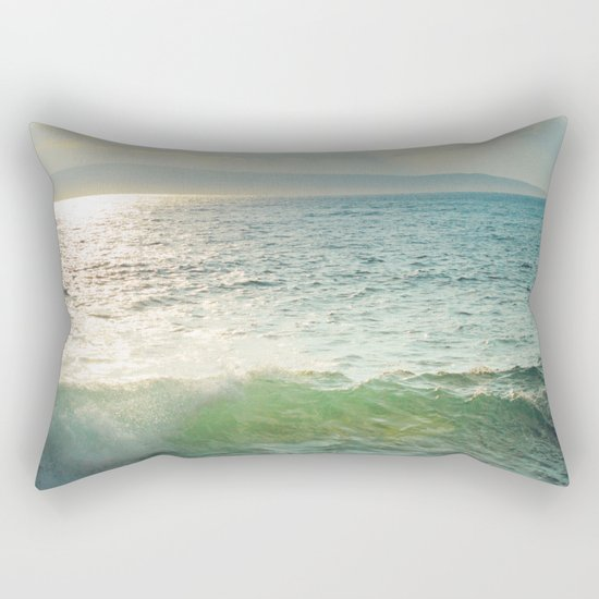 Pā'ako Beach Iridescence Rectangular Pillow