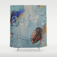 numbers Shower Curtains featuring Numbers Game by Patricia Schwimmer