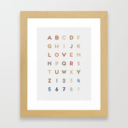 Letter Love - Color Framed Art Print