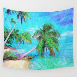 Palms on the Bay Wall Tapestry