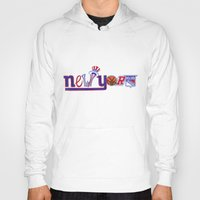 yankees Hoodies featuring New York by Michela Deck