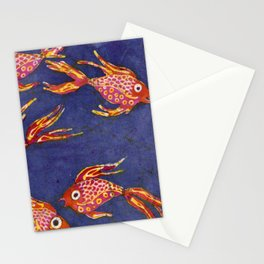 Goldfish batik Stationery Cards
