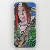 neil young iPhone & iPod Skins featuring Neil Young by Robert E. Richards