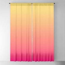 Summer Sunset Gradient Ombré Abstract Blackout Curtain