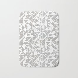 Silver tangram triangle mix Bath Mat