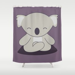 Kawaii Cute Koala Meditating Shower Curtain
