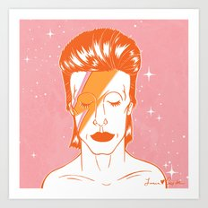 Ziggy Stardust 2016 Art Print