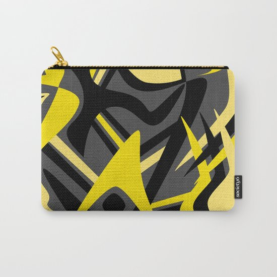 Yellow Puff Carry-All Pouch