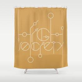 High Society (Gold) Shower Curtain