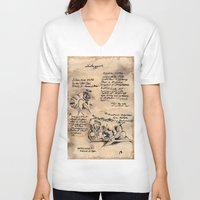 lovecraft V-neck T-shirts featuring Lovecraft Series:  Shoggoth by Furry Turtle Creations