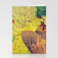 moth Stationery Cards featuring moth by Laura Veinticuatro