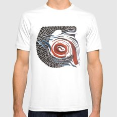 Horn-swirl Mens Fitted Tee White SMALL