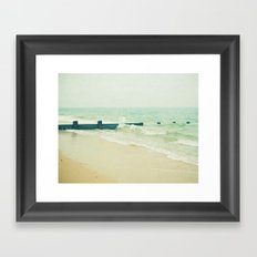 Sea Groyne Framed Art Print