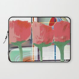 Tulips With Abstract Background Laptop Sleeve