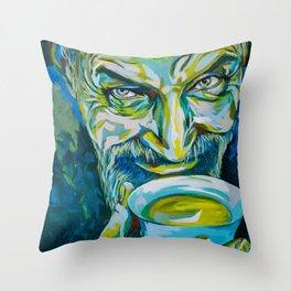Teatime by carographic, Carolyn Mielke Throw Pillow