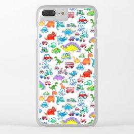Totti Kids print Clear iPhone Case