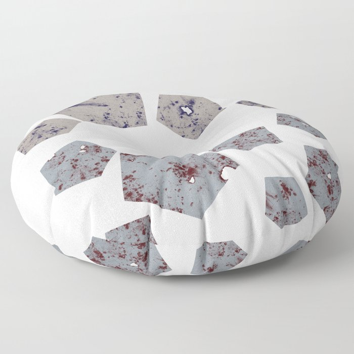 Pentagons of May 14 Floor Pillow