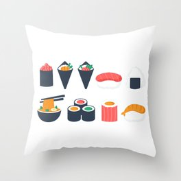 Sushi Time Throw Pillow