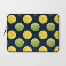 Watercolor Lemon Lime Pattern Laptop Sleeve