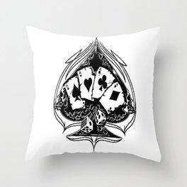 Ace of spades, custom gift design Throw Pillow