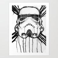 storm trooper Art Prints featuring storm trooper by ErDavid