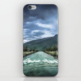 rainy river iPhone Skin