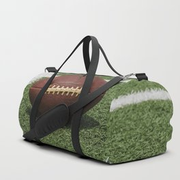 American Football Court with ball on Gras Duffle Bag