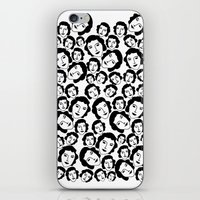 women iPhone & iPod Skins featuring Women by Emmanuelle Ly