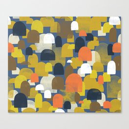 Fall Woods M+M Navy Blue By Friztin Canvas Print