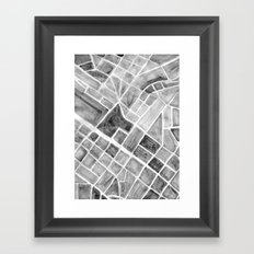 city plan Framed Art Print