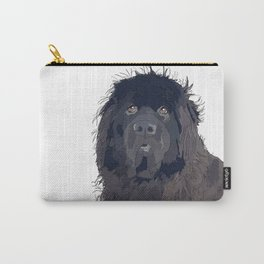 Newfoundland Dog (black) Carry-All Pouch
