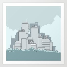 A city skyline Art Print