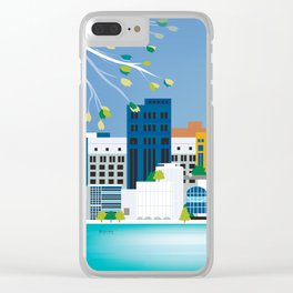 Madison, Wisconsin - Skyline Illustration by Loose Petals Clear iPhone Case